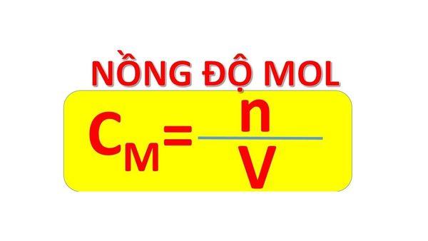 Tính nồng độ mol là yêu cầu của rất nhiều bài toán môn Hóa học