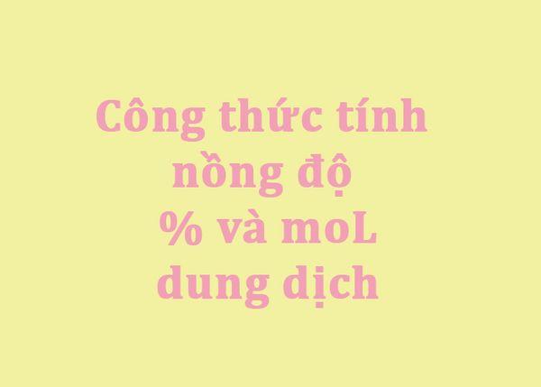 cong thuc tinh nong do mol 06
