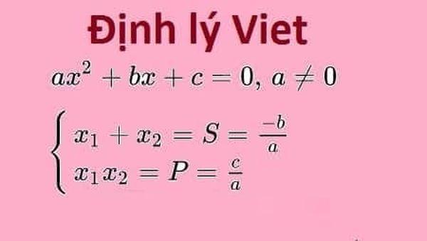 Định lý Viet được áp dụng rất nhiều trong giải phương trình