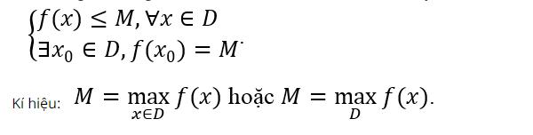 Công thức tìm giá trị lớn nhất nhỏ nhất của hàm số