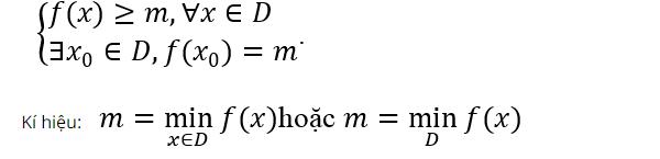 Tìm giá trị nhỏ nhất lớn nhất của hàm số thông qua tham số m