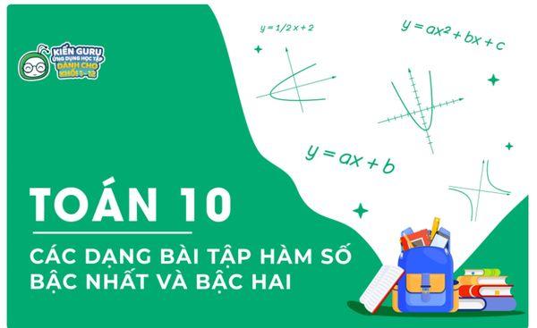 Lý thuyết hàm số bậc nhất y = ax + b và hàm số bậc hai y = ax2 + bx + c